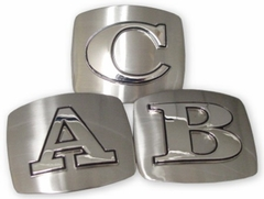 Stainless Steel Initial Belt Buckle (with Belt)