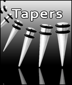 Stainless Steel Insertion Tapers for Stretching a Piercing