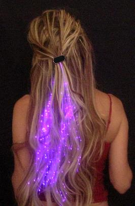 Glowbys starlight strands illuminating fiber optic hair extensions click to see larger image pmusecretfo Image collections