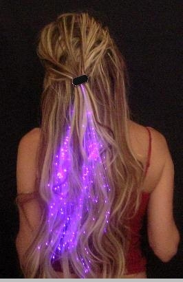 Glowbys Starlight Strands Illuminating Fiber Optic Hair Extensions & Rave Toy<!-- Click to Enlarge-->