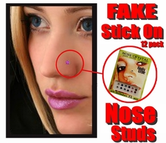 Stick on Fake Nose Studs (12 Pack)