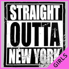 Straight Outta New York Ladies T-shirt