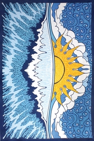 Sun Wave Indian Tapestry 60 x 90""