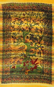 Sunset Tree Of Life Tapestry (55 X 85 )