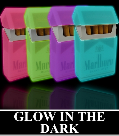 Super Glow In The Dark Cigarette Case ( Regular Size & 100's )<!-- Click to Enlarge-->