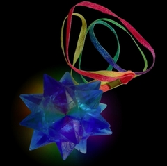 Super Strobe Spike Ball Poi Necklace
