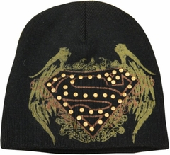 Superman Affliction Crest Skull Cap Beanie