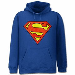 Superman Classic Logo Hoodie (Royal Blue)