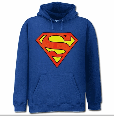 Superman Classic Logo Hoodie (Royal Blue)<!-- Click to Enlarge-->