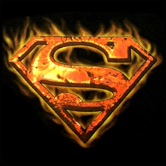 Superman Inferno Mens T-Shirt