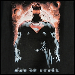 "Superman Man Of Steel ""Red Son of Krypton"" Men's T-shirt on Black"