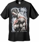 "Superman Man of Steel ""Steel Rain"" Men's T-shirt on Black"