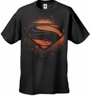 "Superman Man of Steel ""Super Spray""  Men's T-shirt on Black"