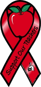 Support Our Teachers Car Ribbon Magnet