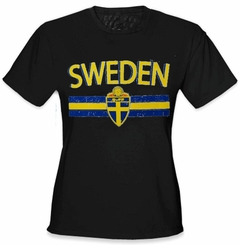 Sweden Vintage Shield International Girls T-Shirt