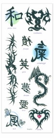 Symbolic Dragon Temporary Tattoos