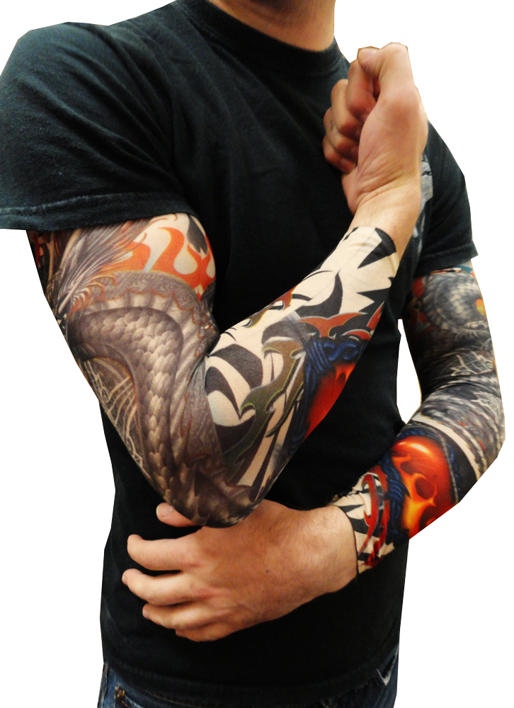Tattoo Sleeves Tribal Dragon Heart Tattoo Sleeves Pair
