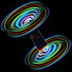 Tekno Twirl Spinning Led Raver Toy