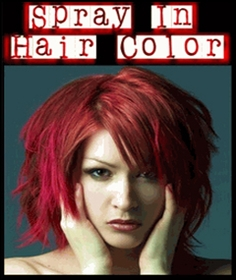 Temporary Spray In Hair Color $2.99