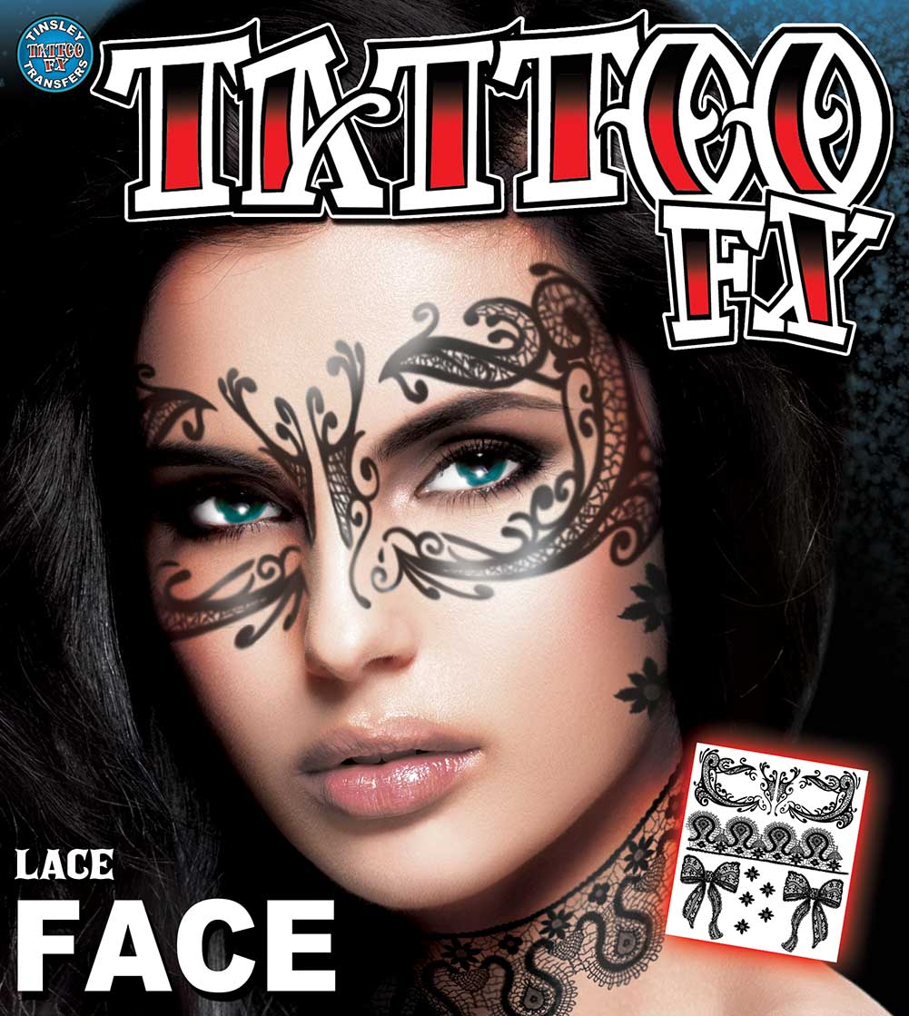 temporary face tattoos beautiful lace face