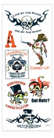Texas Holdem' Poker Temporary Tattoos