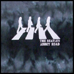 The Beatles Tshirt - The Beatles Abbey Road Tie Dye T-Shirt