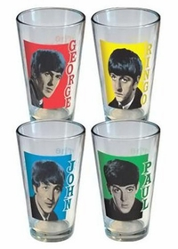 The Beatles - Collector's Series Pint Glass 4-Pack (4 Pint Glasses)