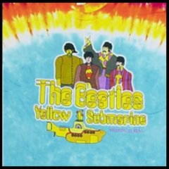 The Beatles Tshirt - The Beatles Yellow Submarine Tye Dye T-Shirt