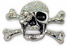 """The """"Captain Ice""""  Stone Cross Bone Buckle With FREE Belt"""