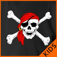 The Jolly Roger Pirate Skull Kids T-Shirt