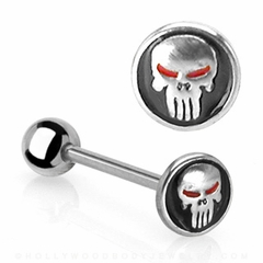 The Punisher Skull Comfort Fit Tongue Jewelry