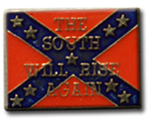 The South Will Rise Again Flag Lapel Pin