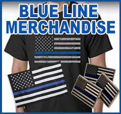 The Thin Blue Line Merchandise - Show your support to the fallen law enforcement.
