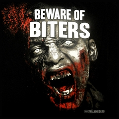 "The Walking Dead ""Beware of Biters"" Men's T-Shirt (Black)"
