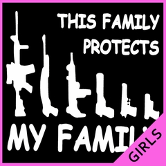 This Family Protects My Family Girl's T-Shirt