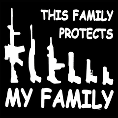 This Family Protects My Family Men's T-Shirt