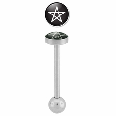 Tongue Body Jewelry - Pentagram Star Barbell for Tongue Piercings