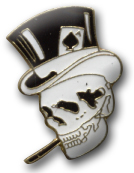 Top Hat Cigar Skull Lapel Pin
