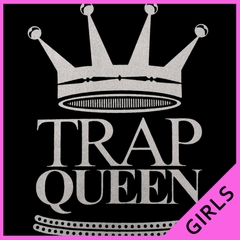 Trap Queen Full Silver Ladies T-shirt