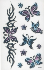 Tribal Butterflies 2 Temporary Fake Tattoo