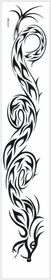 Tribal Dragon ArmBand Temporary Tattoo
