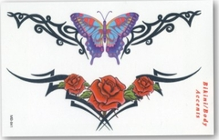 Tribal Floral/Butterfly Temp. Tattoo