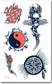 Tribal Life Symbols Temporary Tattoo