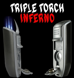 Triple Torch Inferno With Built In Cigar Punch