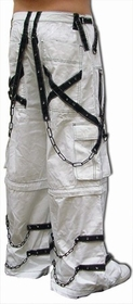 Tripp Ghost White Bone Pants with Zip Off Legs to Shorts