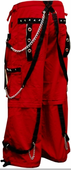 "Tripp NYC ""Crimson Specter"" Bondage Pants (Red)<!-- Click to Enlarge-->"