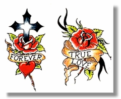 True Love Roses Temporary Tattoo