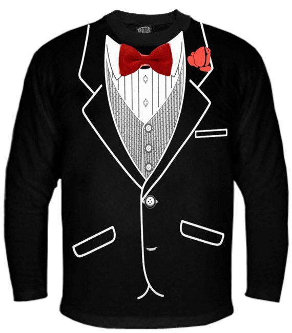 Tuxedo Shirts All Occasion Formal Tuxedo Long Sleeve T Shirt
