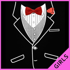 Tuxedo Shirts - Girls  All Occasion Formal Tuxedo T-Shirt