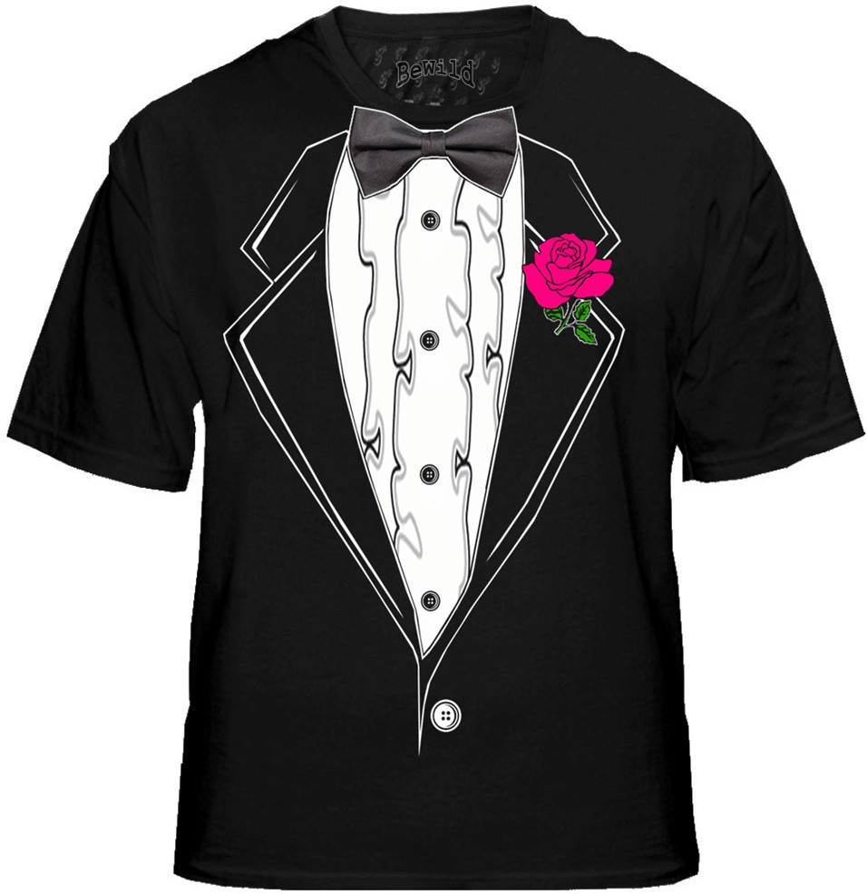 Tuxedo t shirts mens black ruffled tuxedo t shirt with for Black tuxedo shirt for men